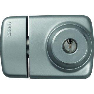 ABUS 7525 S silbern Tür-Zusatzschloss für Eingangstüren mit schmalen Rahmenprofilen Dornmaß 45 mm