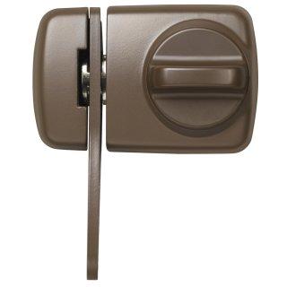ABUS 7530 B braun Tür-Zusatzschloss Eingangstür schmales Rahmenprofilen Sperrbügel Dornmaß 45 mm