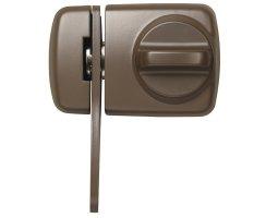 ABUS 7530 B braun Tür-Zusatzschloss Eingangstür...