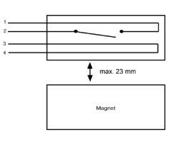 ABUS MK1010W Magnetkontakt Öffnungsmelder VDS B weiss Tür Fenster