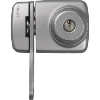 ABUS 7535 S silbern Tür-Zusatzschloss Eingangstür schmales Rahmenprofilen Sperrbügel Dornmaß 45 mm