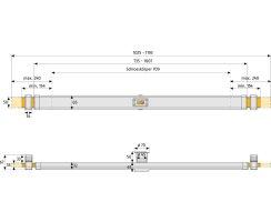 ABUS PR2600 Panzerriegel PR 2600 braun + EC660 Zylinder 30/100 mit Sicherungskarte