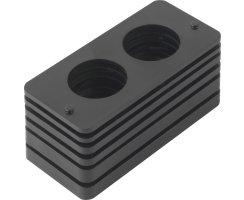 ABUS Kunststoffunterlagen Schließkasten Panzerriegel PR2600 PR2700 PR2800 schwarz