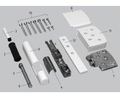 ABUS FAS101 S silber Stabile Scharnierseiten-Sicherung Fenstersicherung