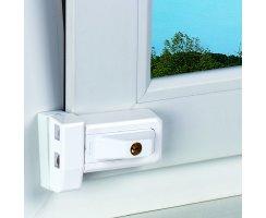 ABUS 3030 W EK weiß Universal-Zusatzschloss gekippte geschlossene Fenster
