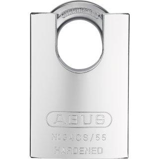 ABUS 34CS/55 Vorhangschloss Platinum Körper und Bügel Stahl verschiedenschliessend