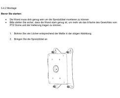 ABUS TVAC31241 Anschlussbox + Langer Wandhalter für PTZ Domekameras IP Kameras