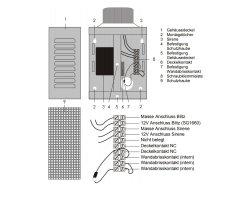 ABUS SG1650 Alarmgeber 12V Alarm Sirene und Blitz Hupe Blitzlicht Alarmanlage