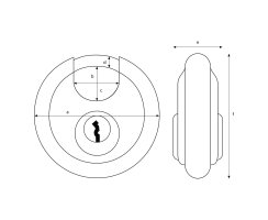 ABUS Diskus 23/60 Vorhangschloss gleichschließend mit Präzisions-Stiftzylinder