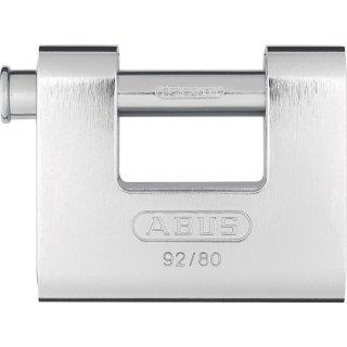 ABUS 92/80 Vorhangschloss Monoblock mit Stahlmantel verschiedenschliessend