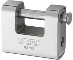 ABUS 92/65 Vorhangschloss Monoblock mit Stahlmantel verschiedenschliessend