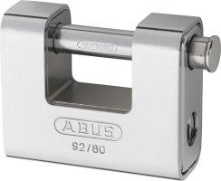 ABUS 92/80 Vorhangschloss Monoblock mit Stahlmantel gleichschließend