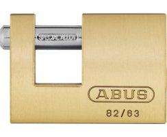 ABUS 82/63 Vorhangschloss Monoblock aus massivem Messing verschiedenschliessend