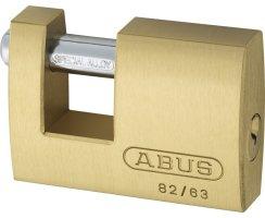 ABUS 82/63 Vorhangschloss Monoblock aus massivem Messing gleichschließend