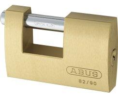 ABUS 82/90 Vorhangschloss Monoblock aus massivem Messing verschiedenschliessend