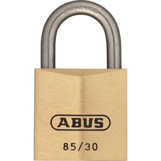 ABUS 85IB/30 Vorhangschloss aus massivem Messing verschiedenschliessend Edelstahlbügel