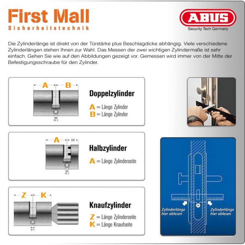 abus doppelzylinder vds klasse b zylinder gleichschlie end f r 7010 o 7025 35 40 mm 72 8. Black Bedroom Furniture Sets. Home Design Ideas