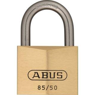 ABUS 85IB/50 Vorhangschloss aus massivem Messing verschiedenschliessend Edelstahlbügel