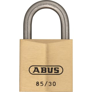 ABUS 85IB/30 Vorhangschloss aus massivem Messing gleichschließend Edelstahlbügel