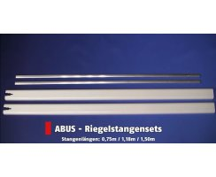 ABUS FOS550 / FOS650 Stangensets 2B 75/118 cm braun für Fensterstangenschloss