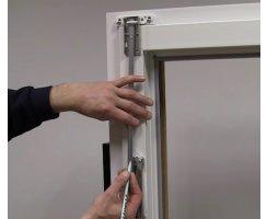 ABUS FOS550 / FOS650 Stangensets 4B 150/150 cm braun für Fensterstangenschloss