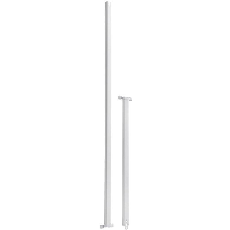 ABUS FOS550 / FOS650 Stangensets weiß 1W 75/75 cm für Fensterstangenschloss