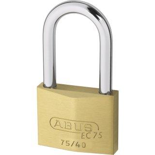 ABUS 75/40HB40 Vorhangschloss Messing mit Wendeschlüssel verschiedenschliessend