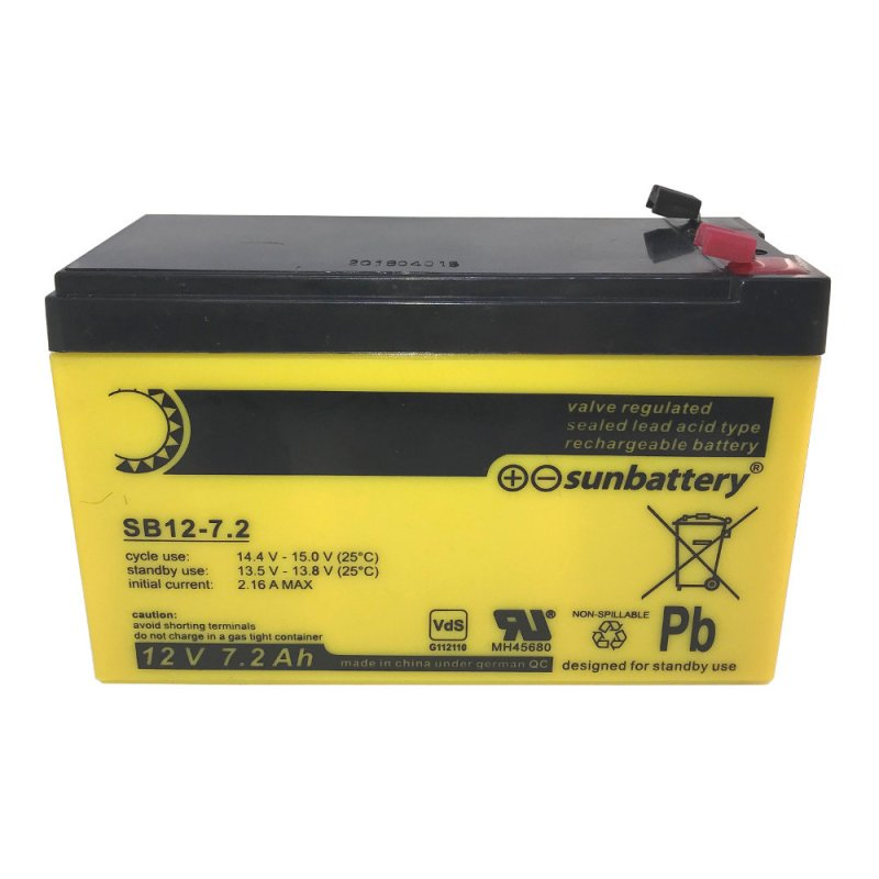 ABUS Bleigel Akku 12V 7,2Ah BT2070 VdS C Sun wartungsfrei Batterie Auslaufsicher