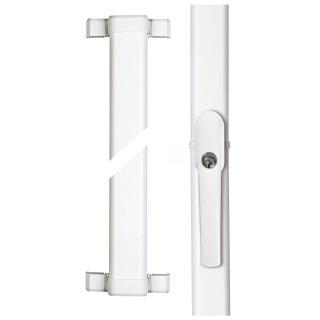 ABUS FOS 550 weiß Stabiles Fenster Stangenschloss Basisset VdS FOS550 W