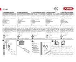 ABUS FG300 B Fenstergriff Abschließbar Einbruchschutz Kindersicherung braun