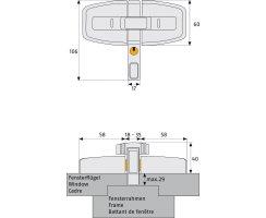 ABUS DFS 95 Zusatzschloss Doppelflügelfenster weiß DFS95 W EK gleichschliessend