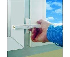 ABUS 2520 Zusatzschloss Doppelflügelfenster braun Fenster Sicherung