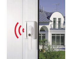 ABUS FO400A B braun Alarm Fensterschloss mit 110 dB Sirene FO 400A Einbruchschutz