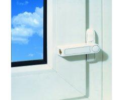 ABUS 2510 B braun Zusatzschloss einflügelige Fenster Sicherung gleichschliessend