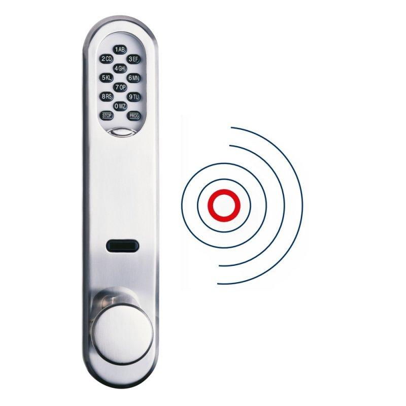 ABUS Sicherheitsbeschlag SLT Alarm AE255F Code-Tastatur Chip-Schlüsselleser