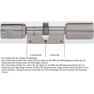 ABUS Seccor CodeLoxx Standard Länge A:35/I:40 mm Anbohrschutz Security