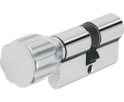 ABUS Knaufzylinder XP20S Gleichschließend Z45/K50 mm Wendeschlüssel