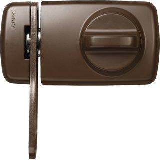 ABUS 7030 B EK Tür Zusatzschloss braun mit Sperrbügel gleichschließend / verschiedenschließend