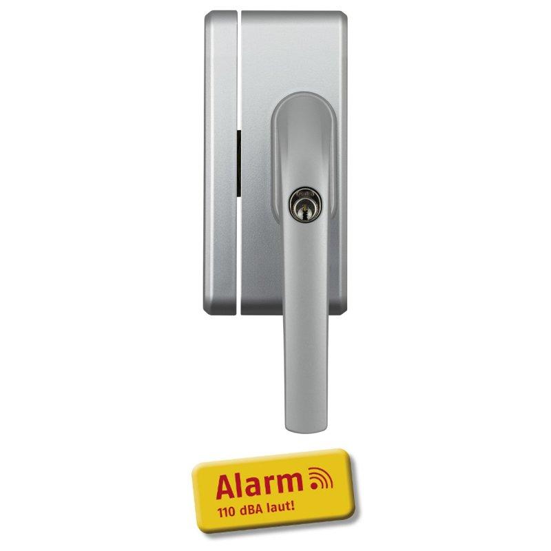 ABUS FO400A S silber Alarm Fensterschloss mit 110 dB Sirene FO 400A Einbruchschutz