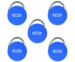 ABUS farbige WLX Mifare Desfire Transponder EV1 Chip 5 Set wAppLoxx RFID