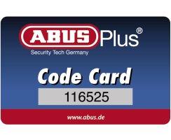 ABUS Granit Vorhangschloss 37ST/55 B/DFNLI Edelstahl CodeCard + 3 Mehrschlüssel
