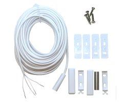 Magnetkontakt Öffnungsmelder 5 m Kabel VdS B weiss...