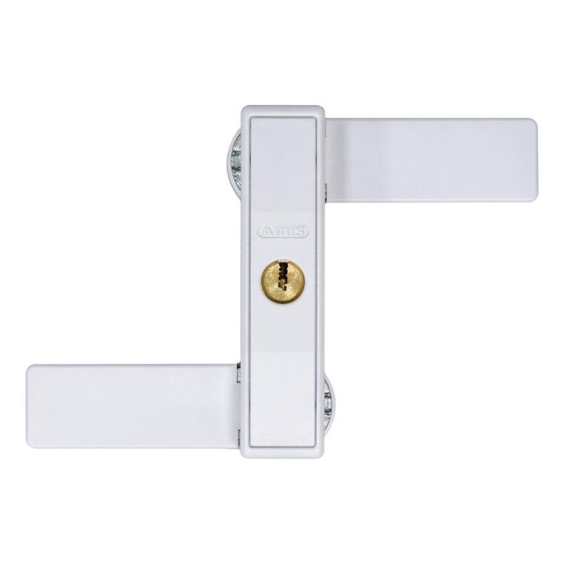 ABUS 2530 W weiß Fenster Doppelflügelfenster Sicherung mit oder ohne Mittelsteg